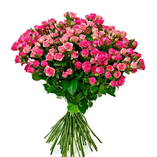 Купить букет из кустовых роз с доставкой вы можете в интернет-магазине «RoseLuxe»